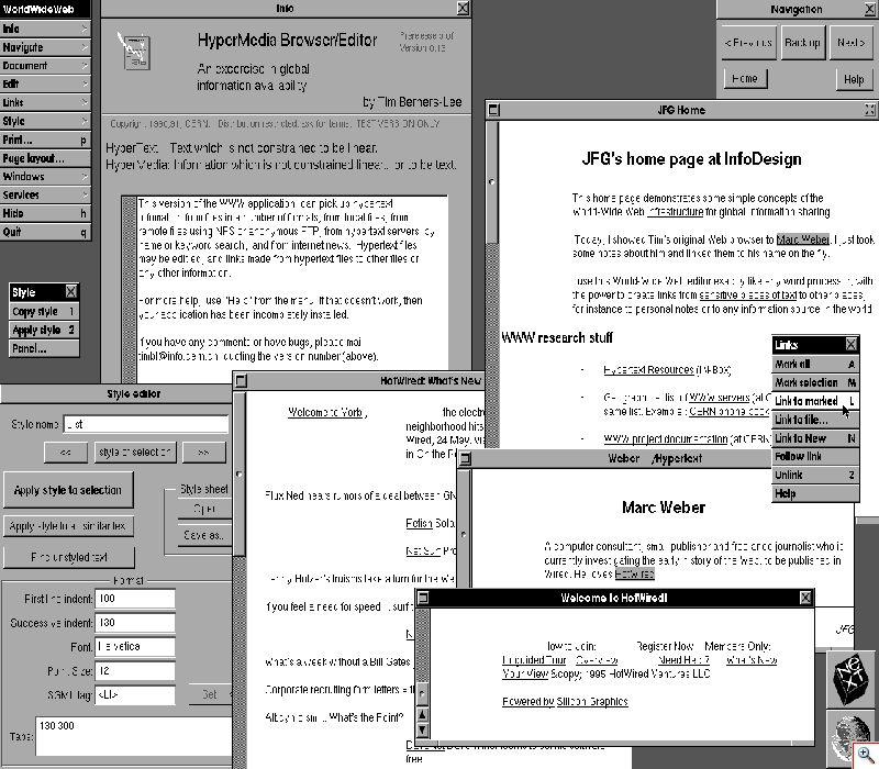 Первые веб браузеры